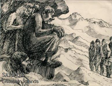 Fjall, Maður, Tröll, Þjóðsaga