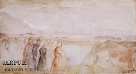 Álfur, Fjall, Gras, Kona, Maður, ÞjóðbúningurÁlfur, Fjall, Gras, Kona, Maður, Þjóðbúningur
