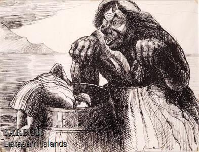 Fjall, Maður, Prins, Svunta, Tröll, Tunna, Vatn, ÞjóðsagaFjall, Maður, Prins, Svunta, Tröll, Tunna, Vatn, Þjóðsaga
