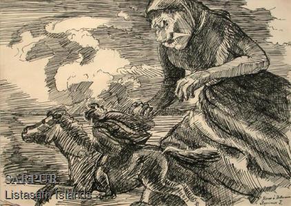 Beisli, Hestur, Maður, Ský, Tröllskessa Beisli, Hestur, Maður, Ský, Tröllskessa