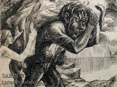 Stúlka, Tröll, Vatn, ÞjóðsagaStúlka, Tröll, Vatn, Þjóðsaga