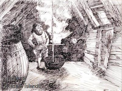 Gluggi, Maður, Reykur, Tunna, ÞjóðsagaGluggi, Maður, Reykur, Tunna, Þjóðsaga