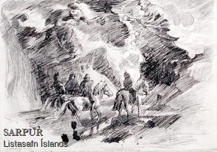 Beisli, Fjall, Hestur, Maður, Tröll, ÞjóðsagaBeisli, Fjall, Hestur, Maður, Tröll, Þjóðsaga
