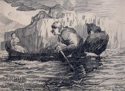 Ár, Bátur, Klettur, Stúlka, Tröll, Vatn, ÞjóðsagaÁr, Bátur, Klettur, Stúlka, Tröll, Vatn, Þjóðsaga