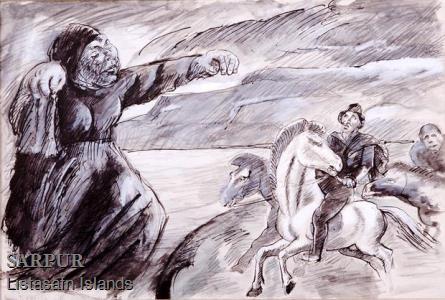 Hestur, Maður, Tröllskessa Hestur, Maður, Tröllskessa